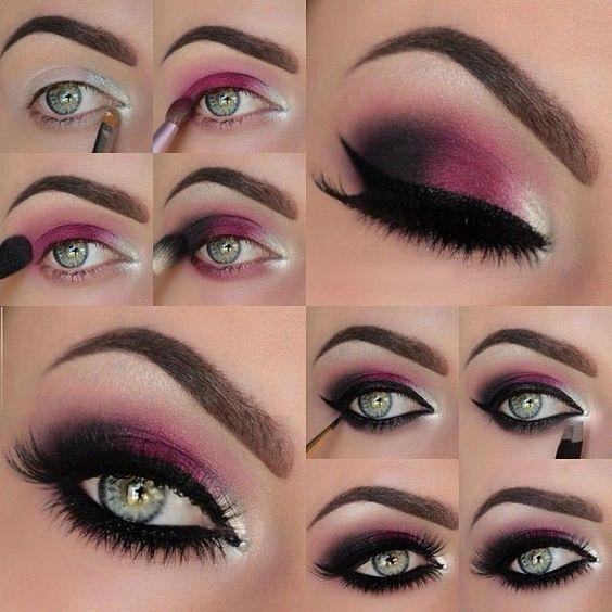 maquillaje de noche con toques violeta